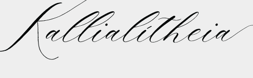 Kallialitheia   Beginner Calligraphy and Beautiful Truth