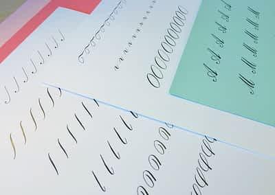 Beginner Copperplate Calligraphy Complete Worksheet Set Uppercase
