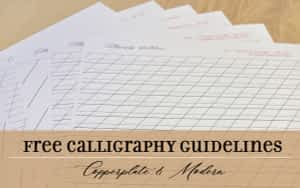 Free Guidelines for Copperplate and Modern Calligraphy