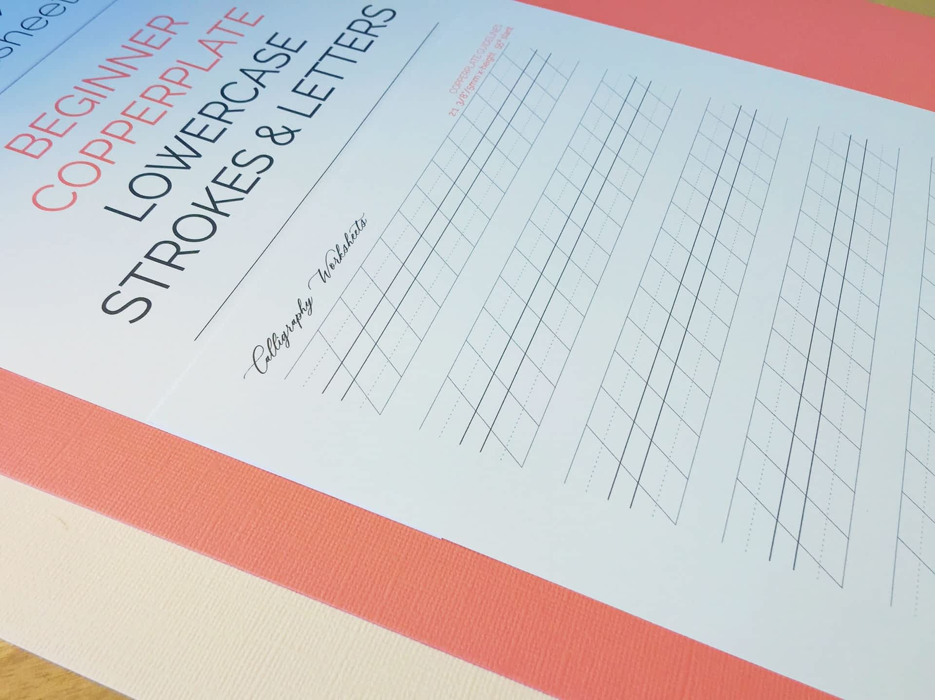 Beginner Copperplate Calligraphy Lowercase Strokes and Letters Guidelines