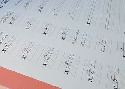 Beginner Copperplate Calligraphy Complete Worksheet Set Numbers and Punctuation