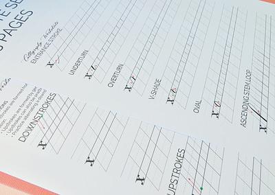 Beginner Copperplate Calligraphy Complete Worksheet Set Lowercase Strokes