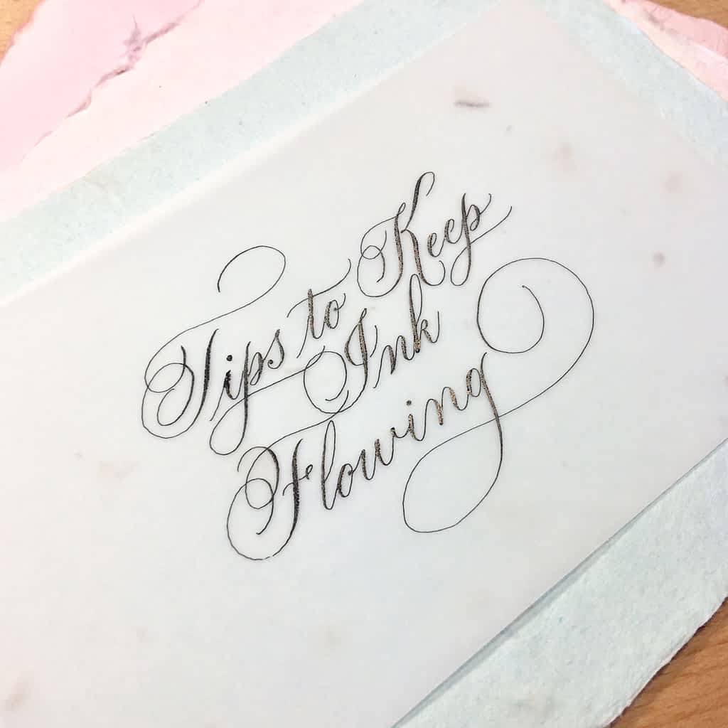 Tips to Keep Ink Flowing