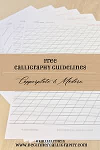 free calligraphy guidelines