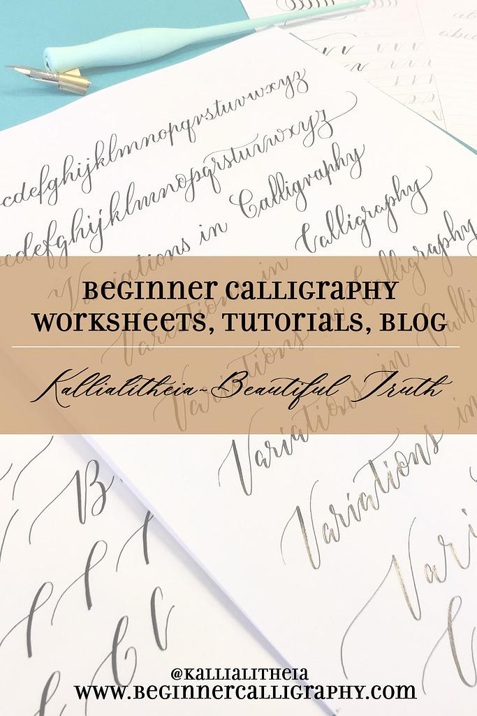 beginner calligraphy blog