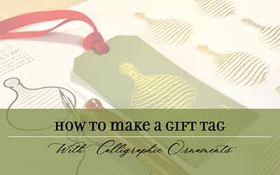 How to Make a Gift Tag with Calligraphic Ornaments
