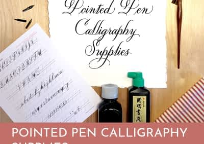Pointed Pen Calligraphy Supplies Heather McKelvey