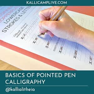 Basics of Pointed Pen Calligraphy Heather McKelvey