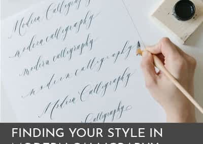 Finding Your Style in Modern Calligraphy Karla Lim