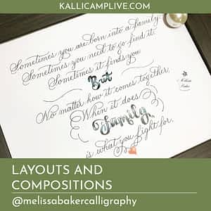 Layouts and Compositions Melissa Baker Calligraphy