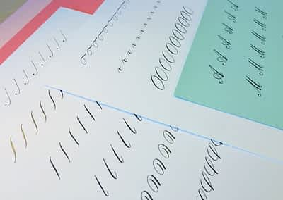 Beginner Copperplate Calligraphy Complete Worksheet Set Uppercase