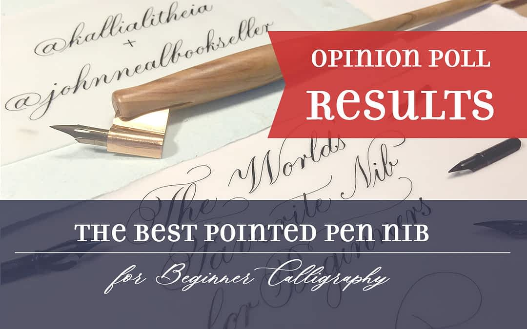 The Best Pointed Pen Nib for Beginner Calligraphy