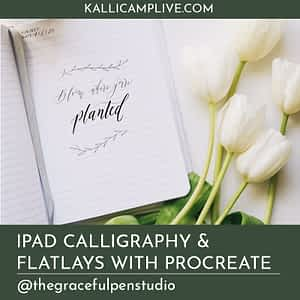 iPad Calligraphy and Flatlays with Procreate Angenise Rawls