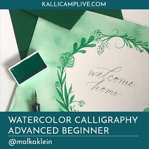 Watercolor Calligraphy Malka Klein @malkaklein