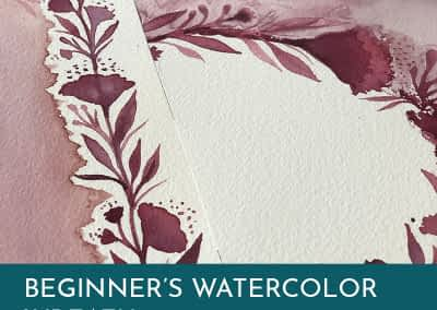 Beginners Watercolor Wreath Malka Klein
