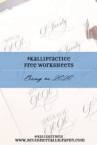 Free 2020 Calligraphy Worksheet
