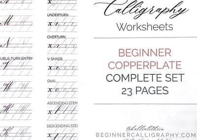 Beginner Copperplate Worksheets
