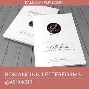 Romancing Letterforms Ashok Giri