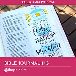 Bible Journaling Starla Brown